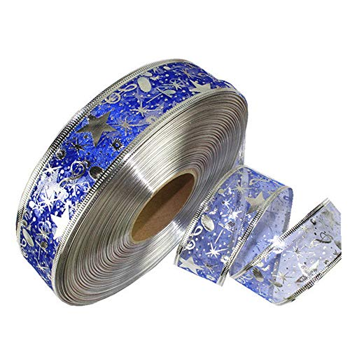 Berrose-2 Meter Silber Heißprägen Band Pentagramm Weihnachtsbaum Dekoration Weihnachten Geschenk Paket Band Masking Tape Set, dekoratives Washi mit dekorativem Design, Craft für DIY Basteln