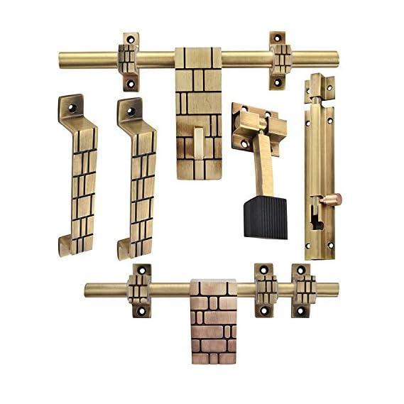Klaxon Glorious 3 Brass Door Accessories Kit (Antique Finish)