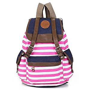 Kisstyle Canvas Backpack School Bag College Laptop Bag Girls Boys Students