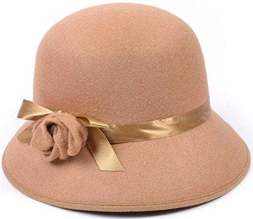 s beige Vintage Retro Flapper Charleston TV Buch Film Kostüm Kleid Outfit Zubehör Hut (Tv Kleid)