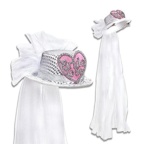 Bride to Be a Heart Top with Veil Fancy Dress