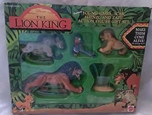 The Lion King - Young Simba, Scar, Shenzi, and Azau Action Figure Gift Set by Mattel