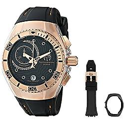 TechnoMarine 114041 - Reloj de cuarzo para hombres, color negro