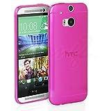 HTC One M8 funda, Ultra Thin Slim Transparente TPU Silicona Funda Carcasa Gel TPU Transparente - Rosa