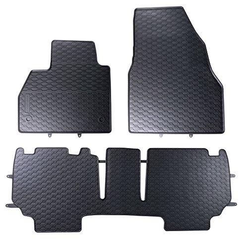 DAPA 1103700 Gummimatten Gummifußmatten Fußmatten Auto Gummi Automatten Hervorragende Premium Qualität Ideale Paßform als Ersatz für Ihre Originale Matten