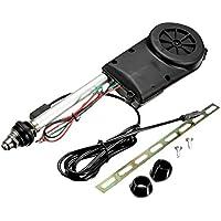 MagiDeal Coche Automático Eléctrico Antena Ala Wing Power Boost Fm Mástil Kit