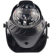 Shaddock pesca® Luce LED Sea Marine Bussola militare barca nave bussola elettronica veicolo auto digitale bussola di navigazione, Black