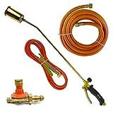 Torcia a gas Bruciatore 2m butano e 5 m di tubo flessibile di propano copritetti Plumber Regolatore di erbaccia