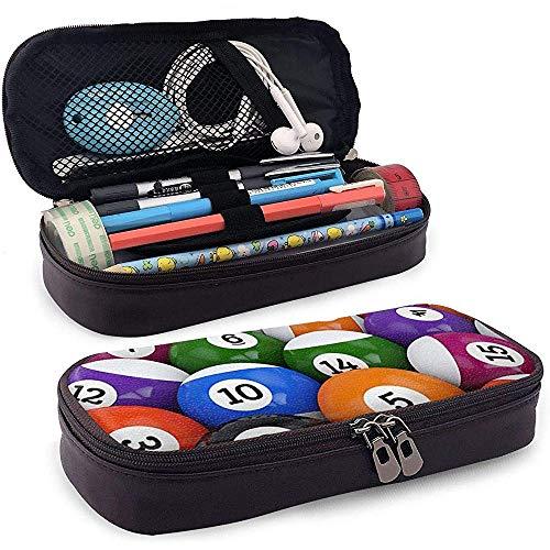 Große Kapazität Federbeutel Box Schreibtisch Stift Stifthalter mit doppeltem Reißverschluss Große Aufbewahrung Wasserdichtes, langlebiges Billard