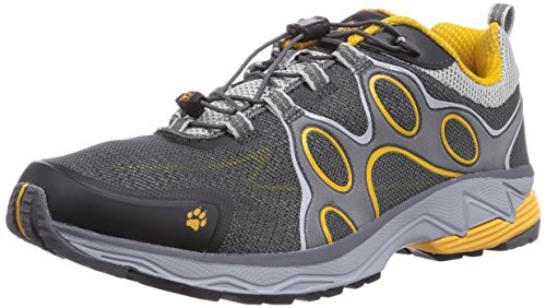 Jack Wolfskin PASSION TRAIL LOW M, Herren Outdoor Fitnessschuhe, Grau (burly yellow 3800), 45 EU (10.5 Herren UK)