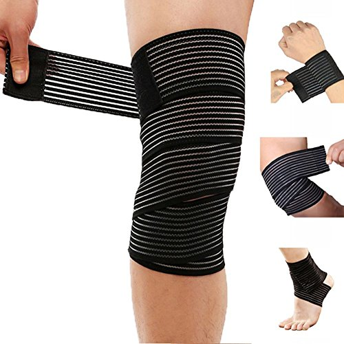 (150cm Knee Bands) - Gymforward Elastic Bandage Wrap Tape Knee Pads Wrist Support Straps Ankle Protector Bands Ankle Wrap Band