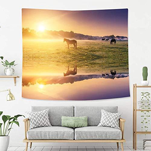 BEIVIVI Creative Custom Tapisserie, Wohnungsdeko, Abendessen des südasiatischen Hochgebirges über dem Himmel, mit buntem Nepal Everest Foto-Wandteppich mit Art Nature Home Decorations 60*50in Color20