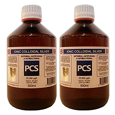 2 x Colloidal Silver 25ppm 500ml (Includes 1st Class P&P!) [2 For 1 Deal] by Pro Colloidal Silver