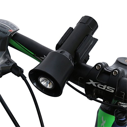 Fahrrad fahren Fahrrad Glocke + Fahrrad vorne Fahrrad Licht 4 Töne 5 Leuchtvarianten Aufladbar mit Akku Lampe Bike Horn radfahren Licht