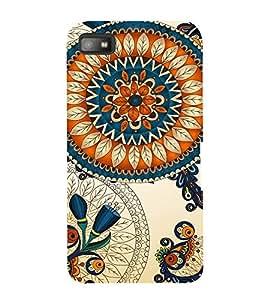 Fabcase royal prince leafy floral design multicoloured Designer Back Case Cover for BlackBerry Z10