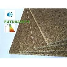 Planchas de corcho, 100 x 50 x 3 cm (Paquete de 10 piezas) para aislamiento térmico, acústico abrigo interior exterior
