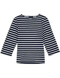 Saint James Women's T-Shirt Blue Marine/ECRU