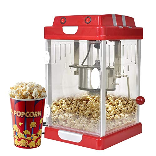 vidaXL Teatro-Estilo máquina de palomitas de maíz de Popper 2,5 OZ Palomitera