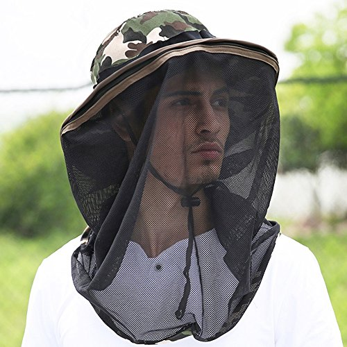 69d48abee85 WENZHE Summer Men s Outdoor Sun Hats Boys Caps Visors With Veil  Anti-mosquito Cover Face Anti-UV