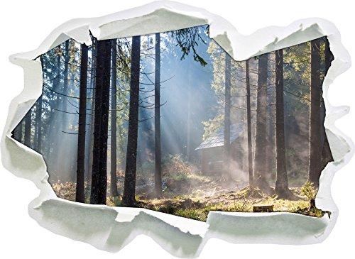 sunbeams-dans-la-taille-de-la-vignette-foret-mur-3d-de-papier-92x67-cm-decoration-murale-3d-stickers
