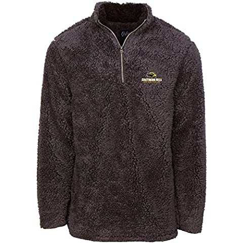 NCAA Southern Mississippi Golden Eagles Men's Sherpa Long Sleeve 1/4 Zip Pullover, X-Large, Magnet