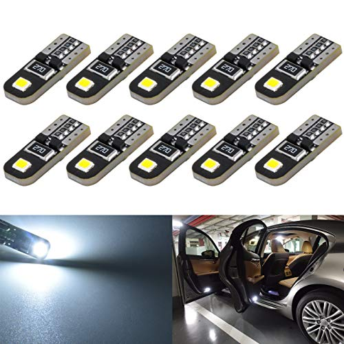 KaTur 10pcs 194 LED Ampoule, éclairage intérieur de Voiture Blanc CanBus T10 168 2825 W5W 3030SMD de Voiture Dégagement Cale Dôme Coffre Ampoule de Plaque d'immatriculation Lampe DC 12V