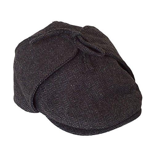 Deerstalker Gorra Sherlock Holmes Sombrero - Gris