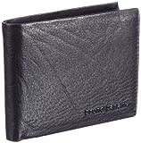 Bruno Banani Crunch_2 W 320.867, Unisex - Erwachsene Portemonnaies, Schwarz (black), 12x9x2 cm (B x H x T)
