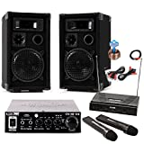 PA Party Karaoke Musikanlage Boxen Verstärker USB SD MP3 Funkmikrofon