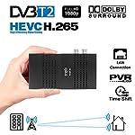 Crypto Redi 30P Mini DVBT2 Full HD Receiver mit H.265/HEVC, Dolby, PVR Ready, Media Player, LAN, HDMI, RF OUT und Fernbedienung mit 4 Tasten Lernfunktion