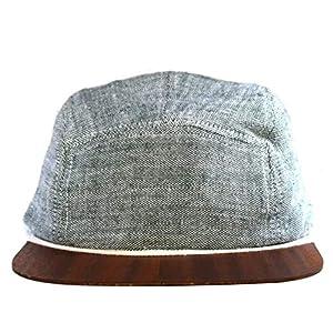 Leinen Cap in grün mit edlem Holzschild Made in Germany - Kappe für Damen & Herren - Sehr leichte & bequeme Basecap - One size fits all Snapback Cappy