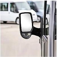 SYMTOP Espejo de Retrovisor Izquierdo Calentado para Ford Transit (2000-2013) - Blanco