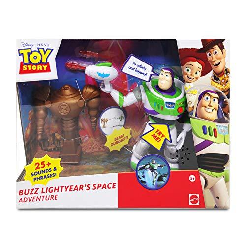 Disney Pixar Toy Story Figuras Juego Set | Buzz Lightyear Aventura Espacial | Figuras de acción Buzz Lightyear para niños y niñas de 25 Sonidos y Frases Incl Zurgbot