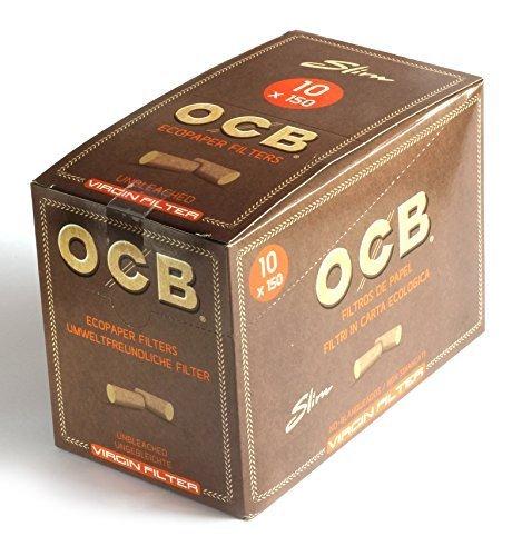 ocb-9200unbleached-slim-virgin-filter-6mm-eco-friendly-bags-150pack-of-10-by-ocb