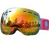 Lunettes Masque de Ski Enfants - Sans Cadre, Snowledge Lentilles Convertibles à Double Sphère, Anti-rayures, Anti-brouillard, Elle Convient AuxGarçon et Fille , Ski/Snowboard Goggles - 100% Anti-UV