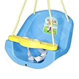 #4: Archana NHR Attractive and Sturdy Baby n Toddler Swing with Light and Music (Blue) battery included