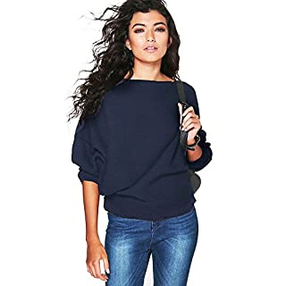 iHENGH Karnevalsaktion Damen Fledermausärmel Strickpullover Lose Pullover Jumper Frauen Tops Strickwaren