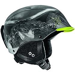 Cébé Contest Visor Pro, Casque de ski, Noir (Chaux montagne) 54-56 cm