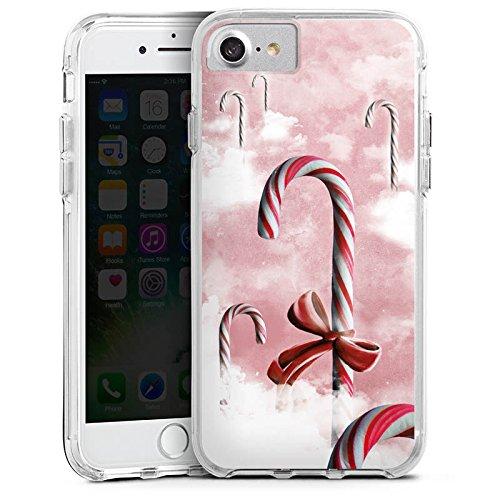 Apple iPhone 7 Bumper Hülle Bumper Case Glitzer Hülle Sweets Candy Bonbon Bumper Case transparent