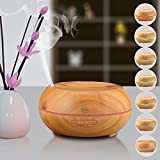 KINGA aroma diffuser essential oil diffuser humidifier air purifier 200ML light wood color