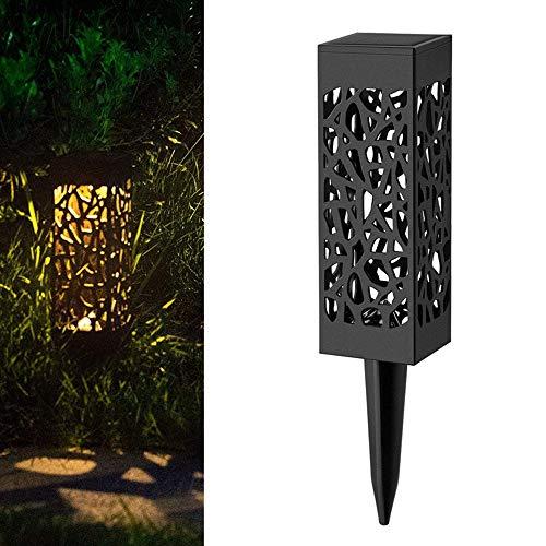 Led Solar Haufen Licht Laterne Solarbetriebene Schienenleuchten Dekorative Outdoor-Rasen Hof Lampe Für Garten Terrasse Warmweißes Licht 31Cm -