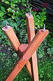 Vogelhaus-Ständer,Dreibein Ständer,Standfuß massiv für Gartendeko Futterstation mit Silo braun lasiert behandelt rustikal für Vogelhaus, Insektenhotel, Nistkasten
