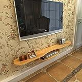 Regal Wand Bücherregal TV-Stand Unterhaltungsschrank Schwimmend Speichereinheit Konsole Organisator-Regal für DVD-Kabelbox