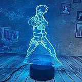 WangZJ 3d Illusion Lampe / 3d Nachtlicht / 7 Farben Touch/Nachttischlampe/Baby Schlafzimmer Dekoration/Geburtstagsgeschenke/Hokage Uchiha Sasuke
