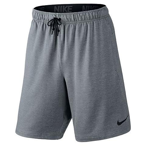 Nike Herren Oberbekleidung Dri-FIT Fleece 8 Zoll Shorts, grau, XL, 817417-065