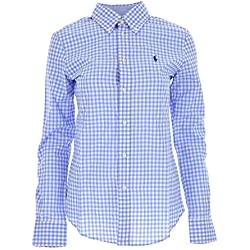 Ralph Lauren Luxury Fashion Mujer 211684075001 Azul Claro Camisa | Temporada Permanente
