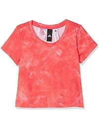 adidas Cf6750 Camiseta, Niñas, Blanco (Rojo), 140-9/10