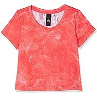 Adidas Cf6750 Camiseta, Niñas, Blanco (Rojo), 170-14/15 años