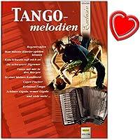 TANGO Mélodies pour accordéon–Belles bearbeitungen dans le domaine mittelschweren erfreuen tout joueur–Accordéon Notes avec cœur Note colorée Pince