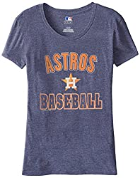 MLB Houston Astros Women's 59M Tee, Navy Heather, Small